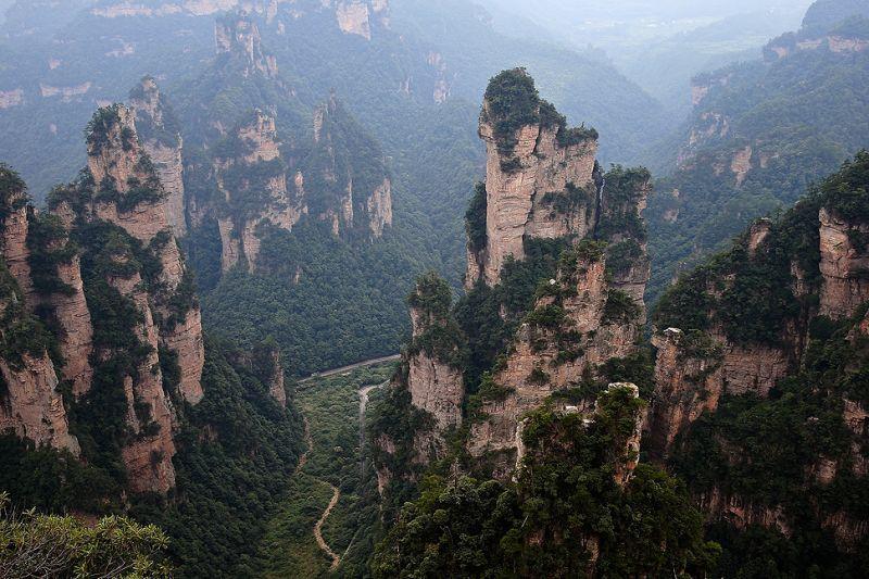 Gunung Tianzi yang mirip dengan Planet Pandora