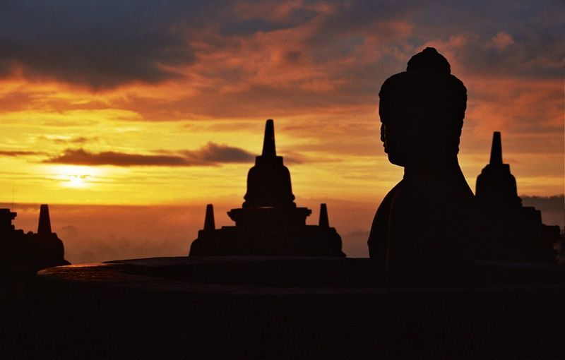 Sunset di Borobudur