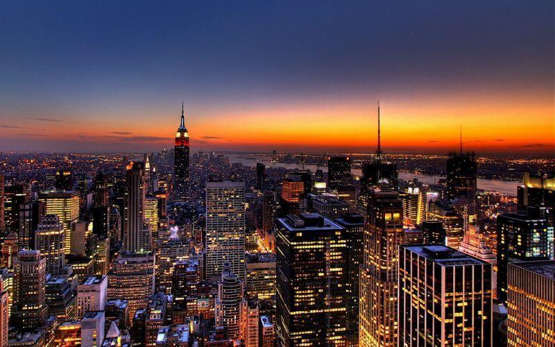 New York city dan gedung pencakar langitnya