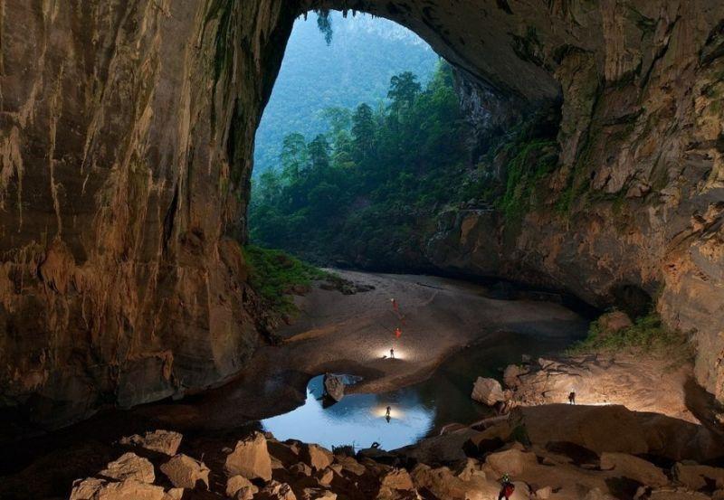 Inilah keadaan di dalam gua