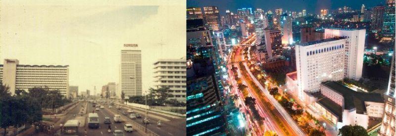 Jalan Jenderal Sudirman, Dulu dan Sekarang