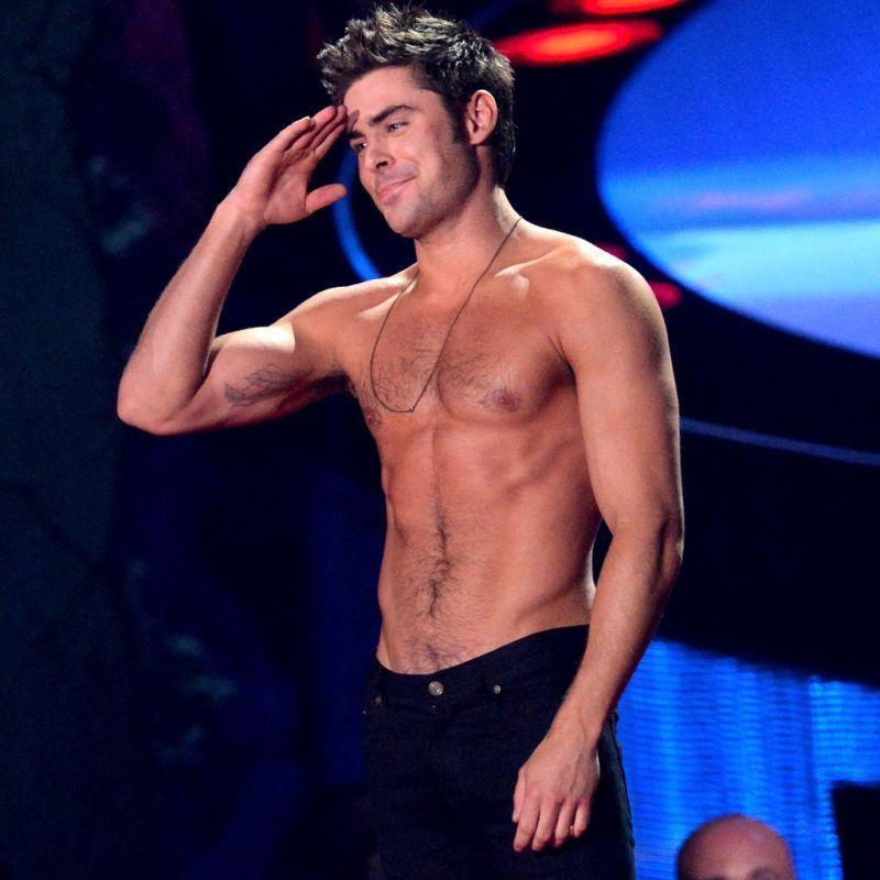 Zac Efron Wins Best Shirtless Performance at MTV Awards