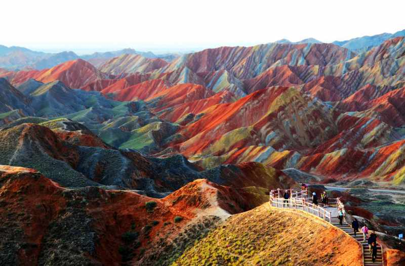 Panorama alam Zhangye Danxia