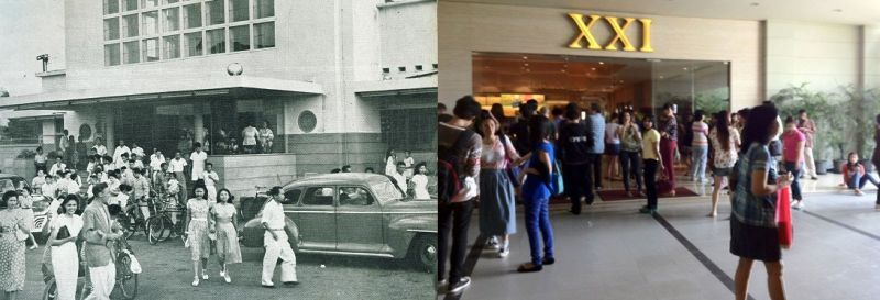 Pengunjung Bioskop Dulu dan Sekarang