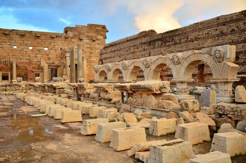 Leptis Magna ini telah ditetapkan UNESCO sebagai salah satu situs warisan dunia