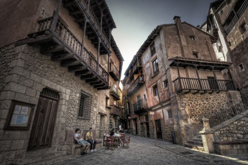 Jalanan di kota Albarracin
