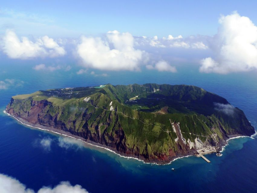 Aogashima dari udara