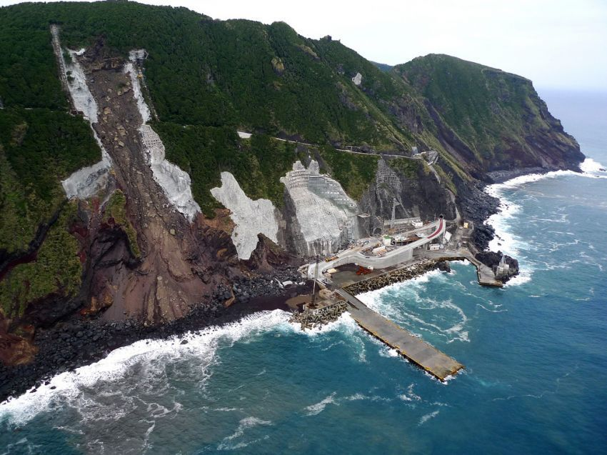 Salah satu bagian pulau Aogashima