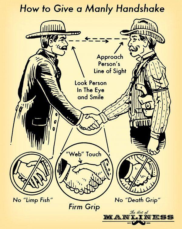 Berjabat tangan ala laki