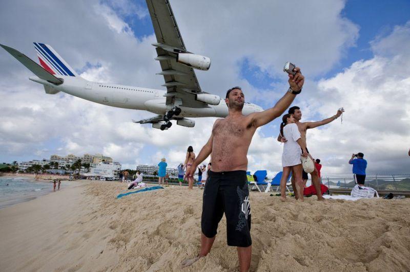 Bisa selfie sama pesawat