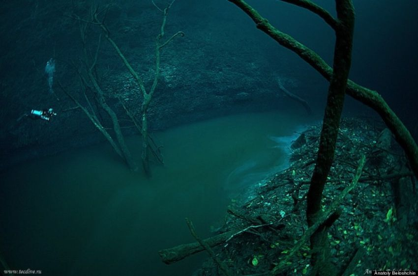 Terlihat jelas daerah aliran sungai ini..