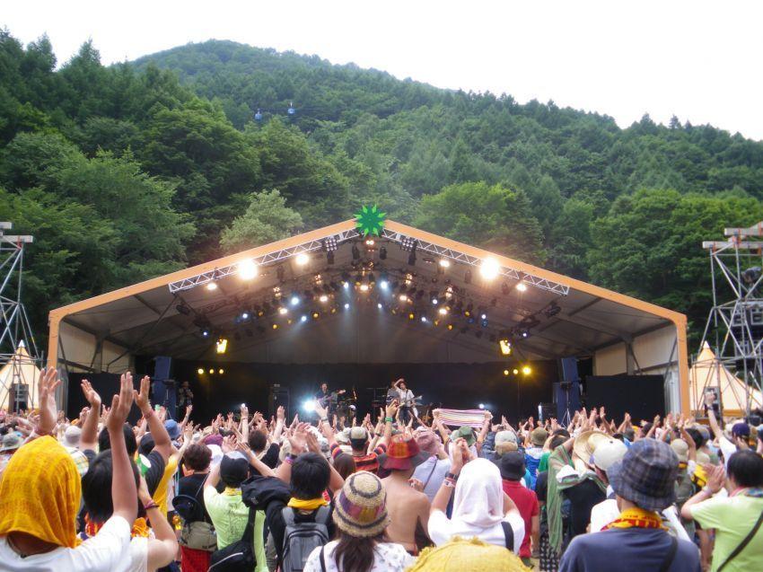 Keramaian di Fuji Rock Festival
