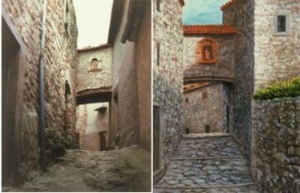 Perbandingan gambar Magnani vs Tempat Asli