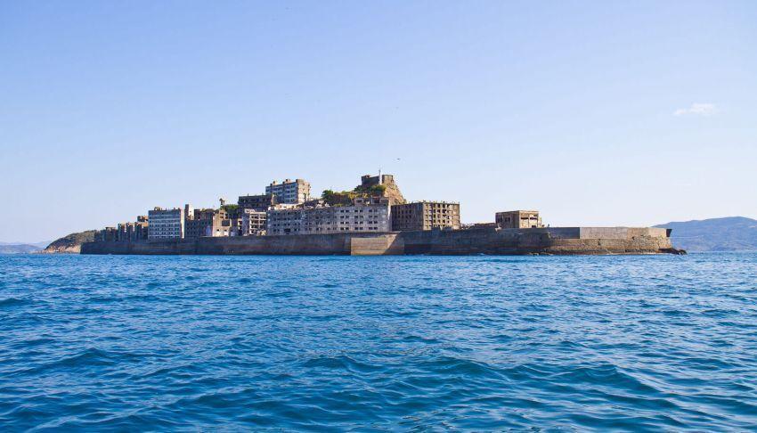 Pulau Hashima dari kejauhan