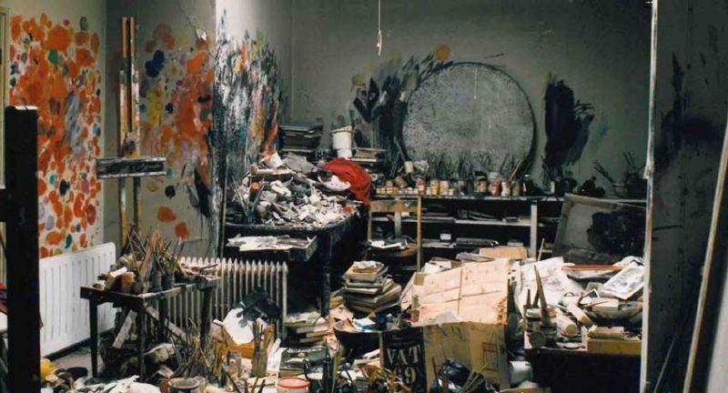 Ruang tempat Bacon melukis