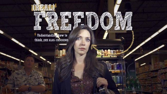 """Kebebasan yang paling berharga akan menuntut kita berkorban demi orang lain, lagi dan lagi, dengan cara-cara yang tak kelihatan."""
