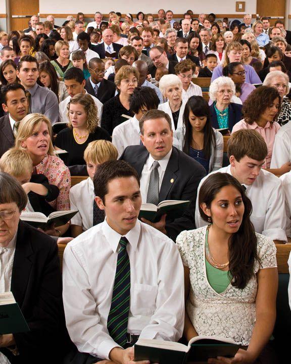 Pengikut Mormon dalam Sebuah Peribadatan