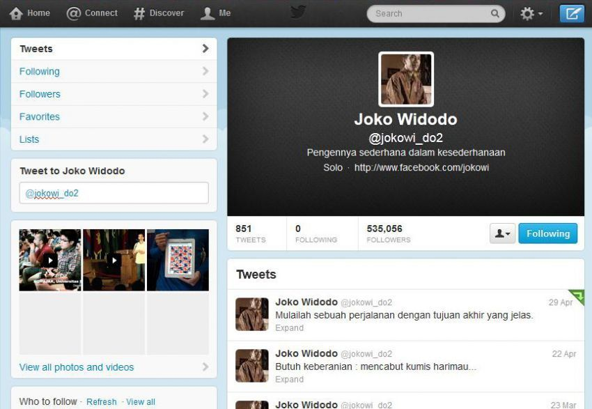 Twitter Jokowi