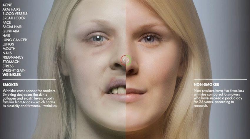 Perbedaan antara perokok dan bukan perokok