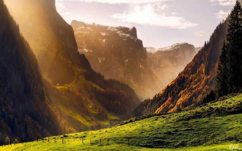 Musim gugur di pegunungan Alpen
