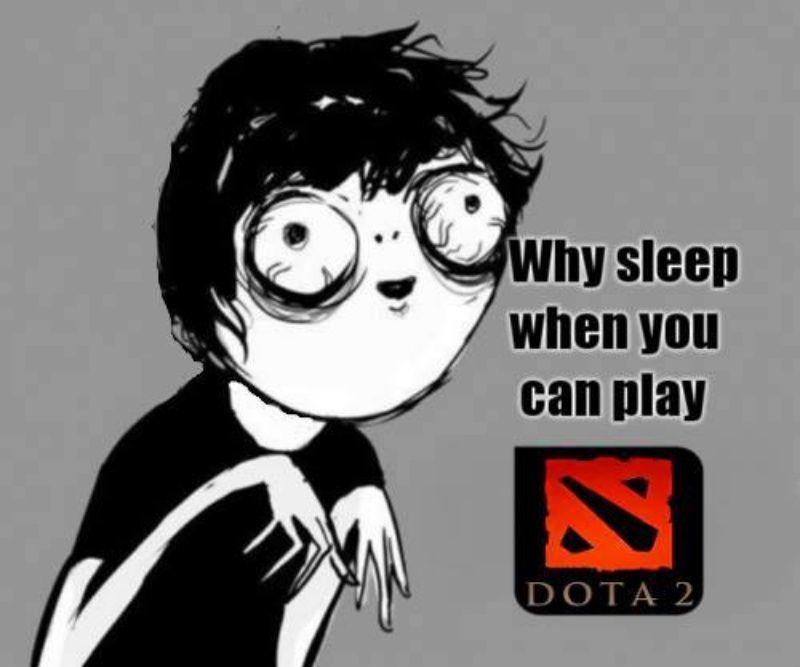Jam tidurnya kacau karena DotA