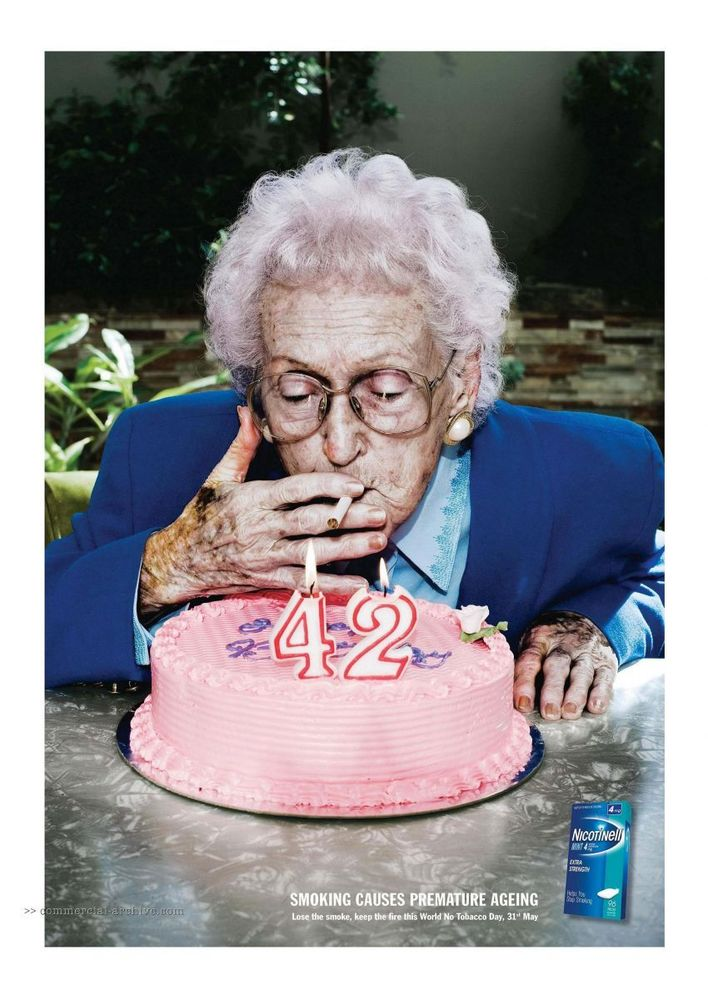 Merokok akan membuatmu terlihat cepat tua
