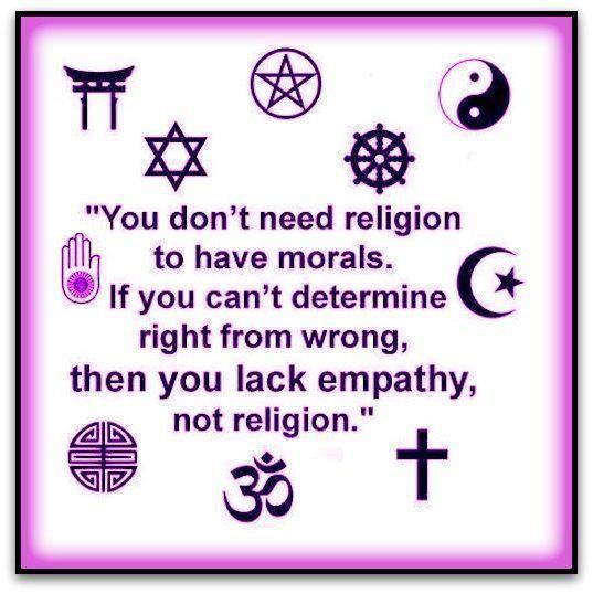 Moralitas tidak semata ditentukan oleh agama