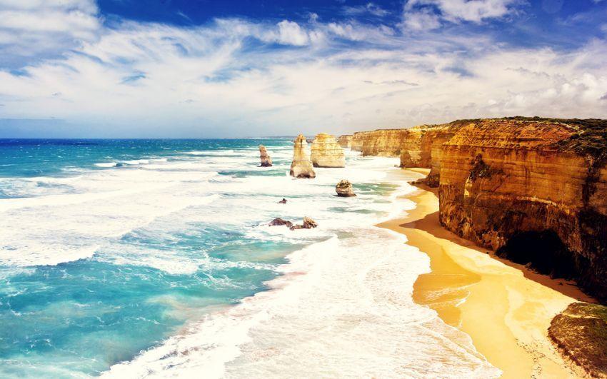 pantai ini terbentuk jutaan tahun lalu