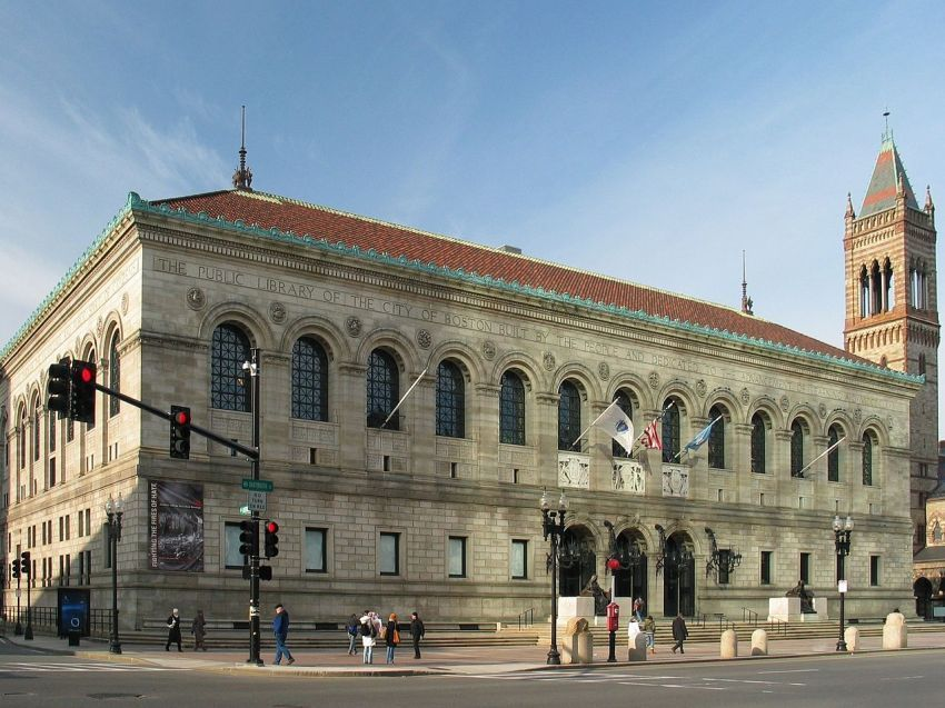 bagian depan perpustakaan Boston