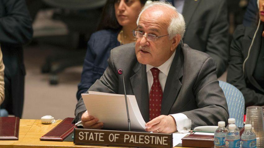 Riyad Mansour, perwakilan Palestina di PBB