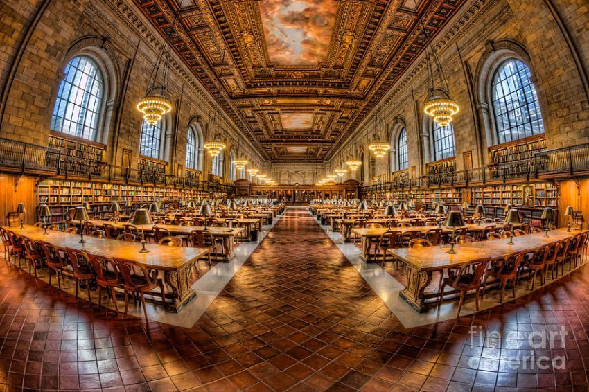 Ruang baca di New York Pubilc Library