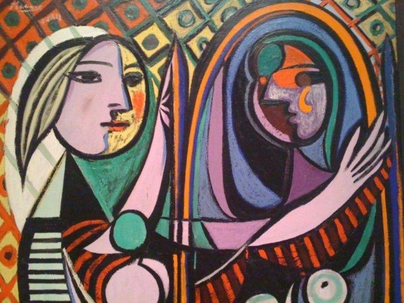 kenapa wajah wanita dalam lukisan picasso terpotong?