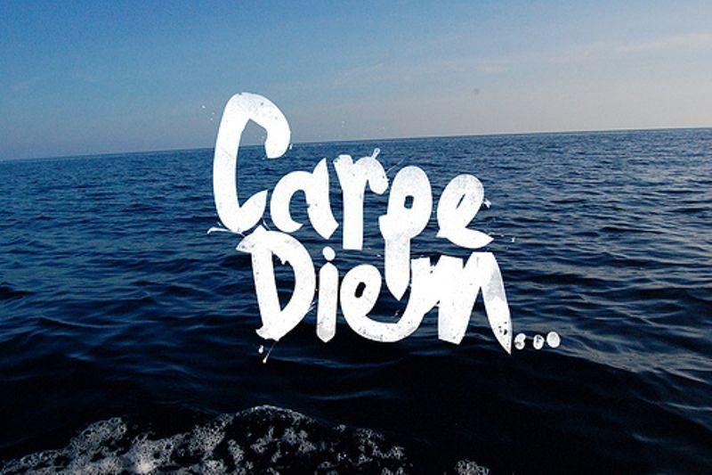 carpe diem/seize the day/raih harimu