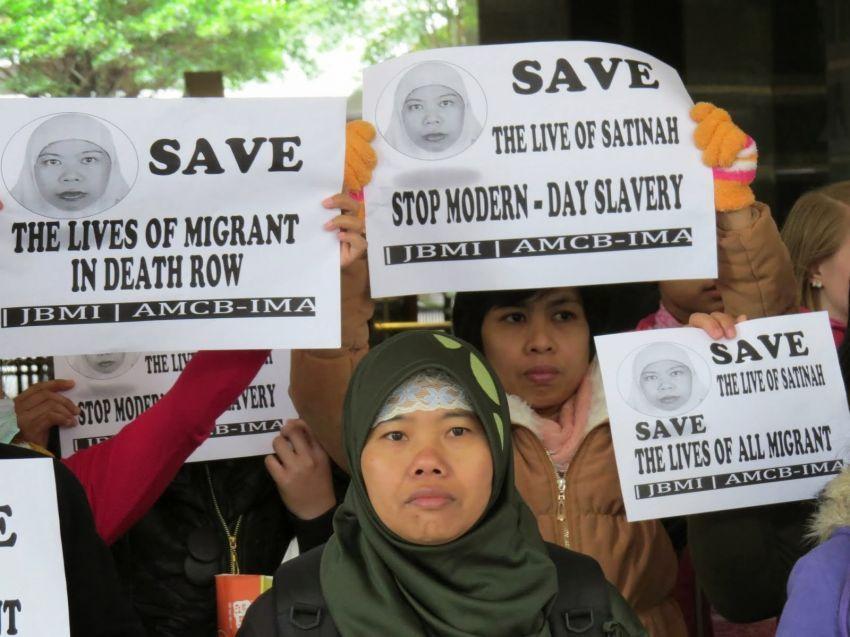 Aksi demo menuntut Satinah diselamatkan