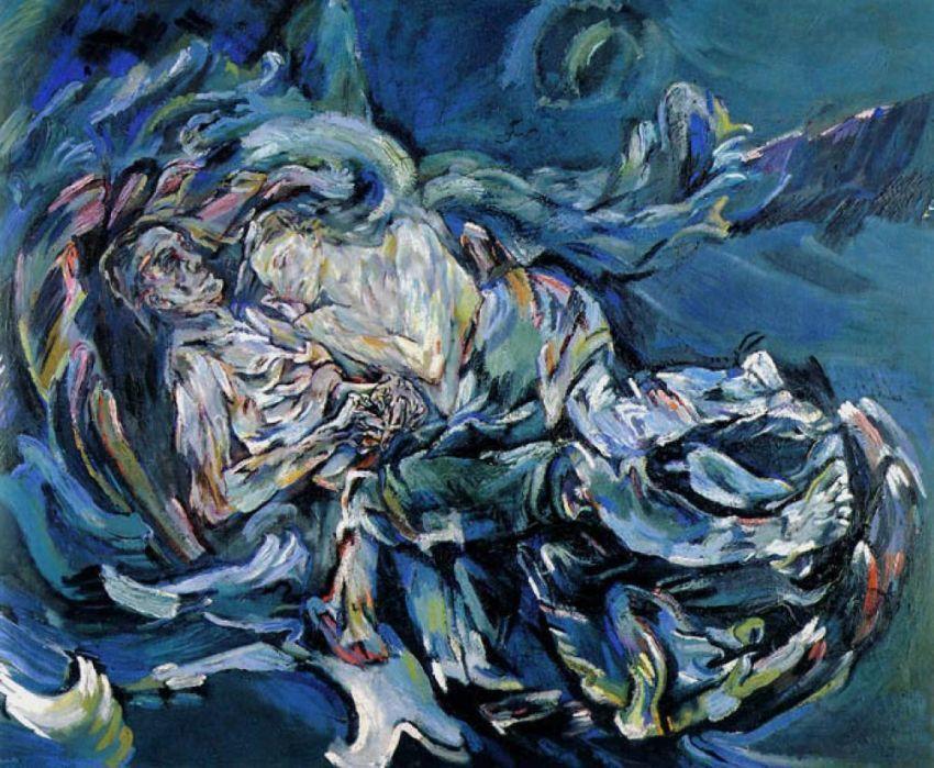 Oskar Kokoschka, 'Badai'/'Pengantin Angin',  1914.