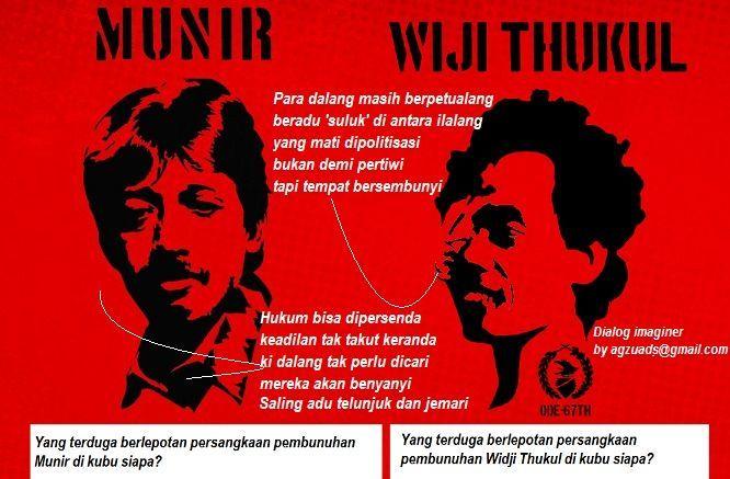 Kasus Munir dan Wiji Thukul masih belum ada jalan terang