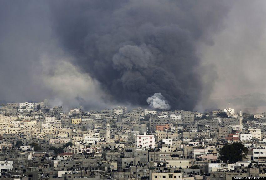 Serangan misil ke Gaza City