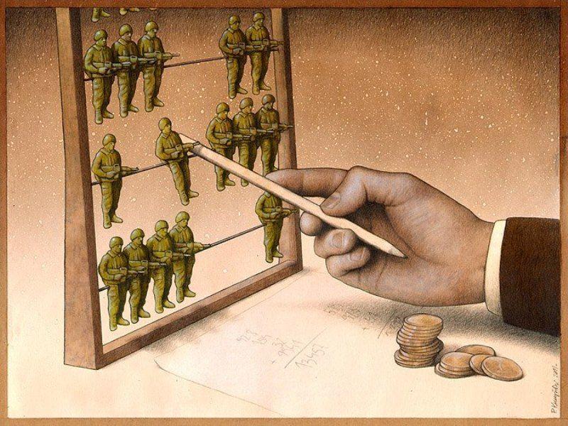 perang, uang