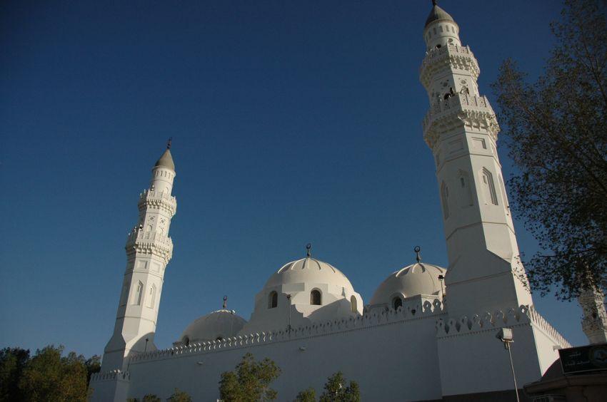 Salah satu sisi masjid Quba