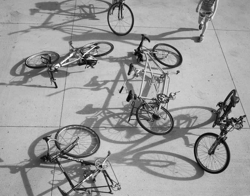 Tumpukan sepeda
