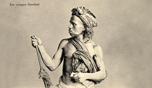 Mantan kanibal dari Sumatra Utara tahun 1905