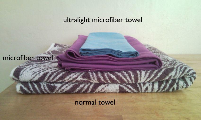 Handuk microfiber lebih tipis