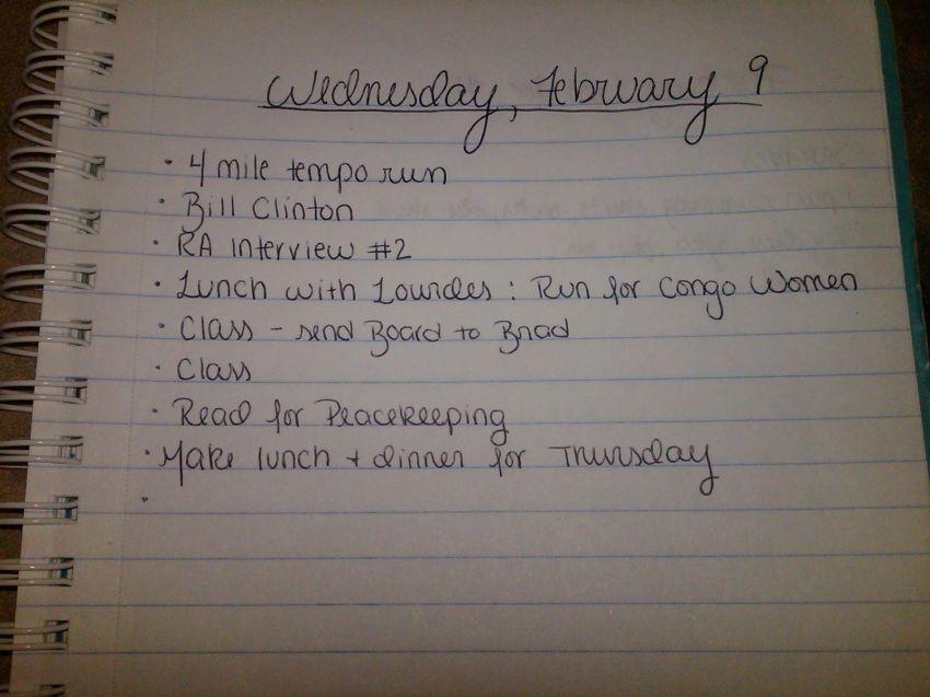 Tuliskan hal yang perlu kamu lakukan keesokan hari