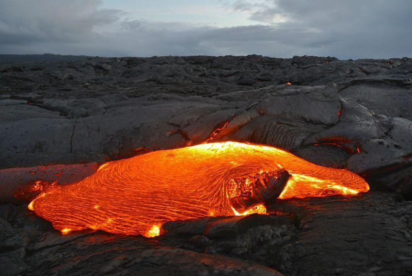 Kilauea saat menjelang malam
