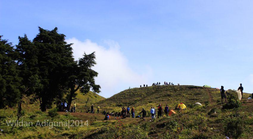 Bukit teletubbies dari kejauhan (Foto: Wildan Adiguna)