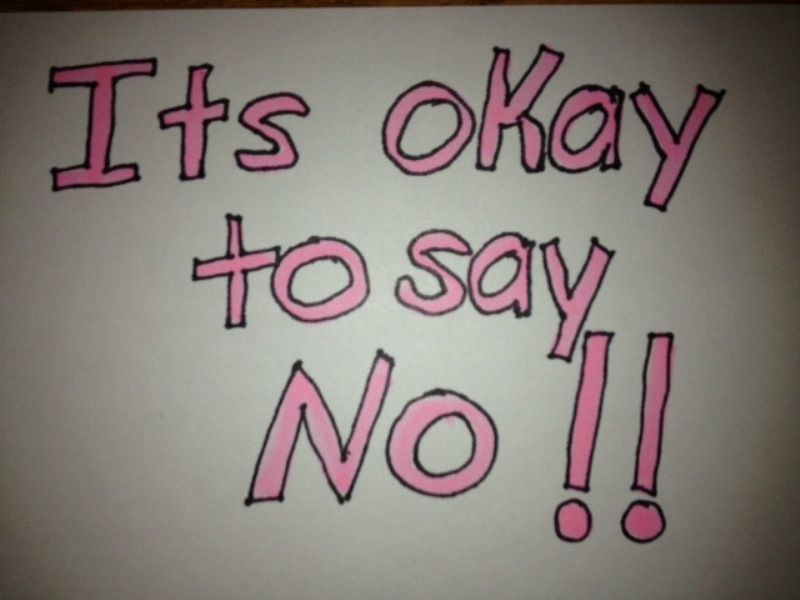 jangan takut berkata 'tidak'