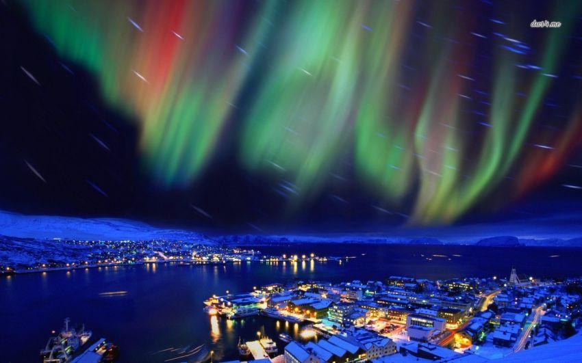 aurora borealis terlihat di finlandia