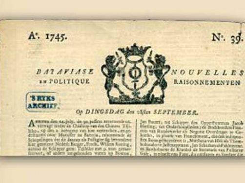 Koran pertama di Indonesia