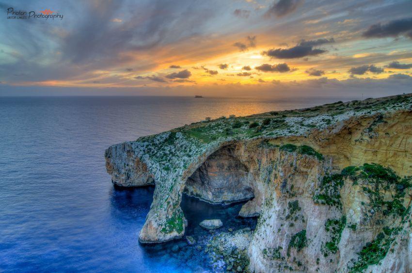 Sunset di Blue Grotto