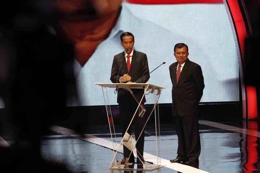 Presiden dan Wapres terpilih Indonesia, Jokowi dan JK, dalam acara sawala.